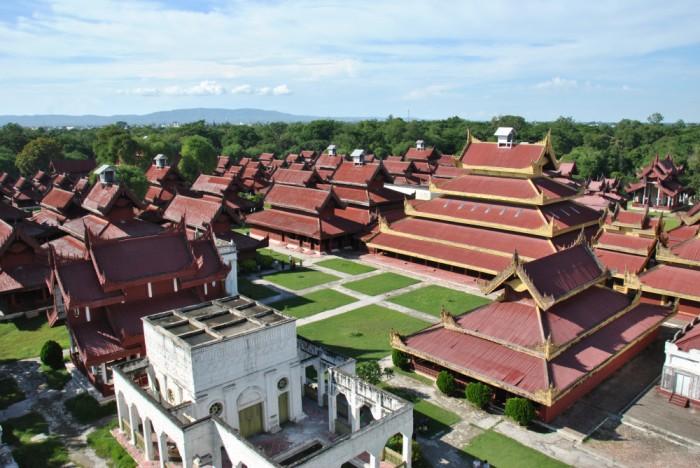 Palacio real de Mandalay. Imagen de wikipedia.