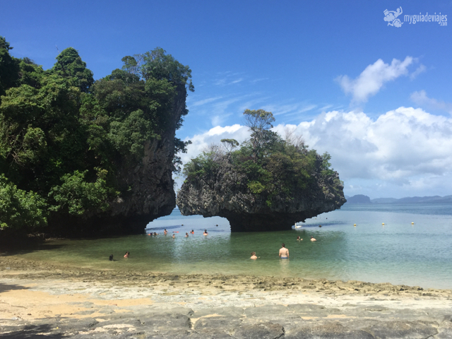 Playa en la excursión de las 4 islas.