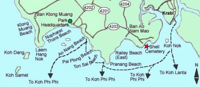 Mapa Krabi