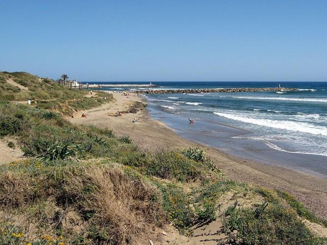 Playa de Cabopino. Imagen de Andalucia.org
