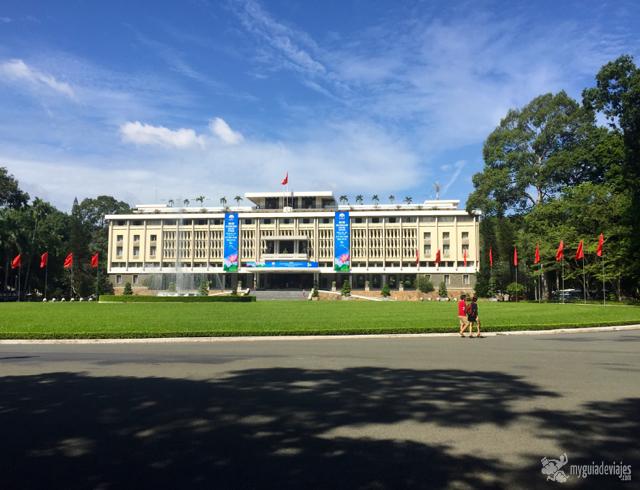 Palacio de la reunificación.