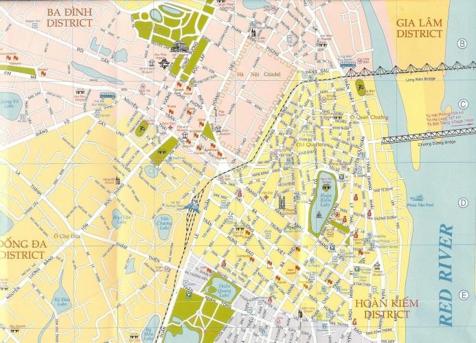 Mapa turístico de Hanoi