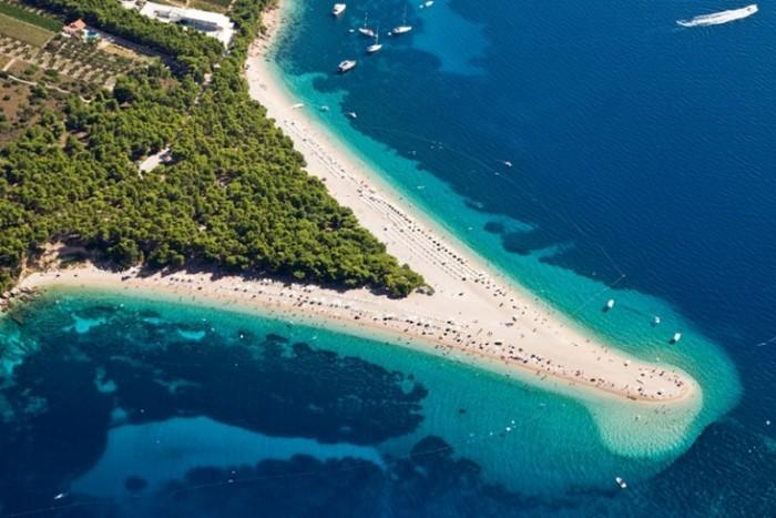 Playa del cuerno de oro, Croacia