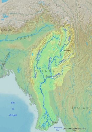 Irrawaddyrivermap