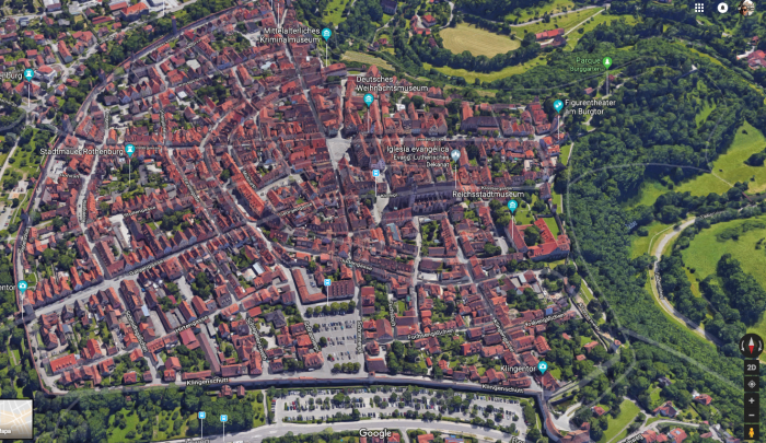 Rothemburg en Google maps.