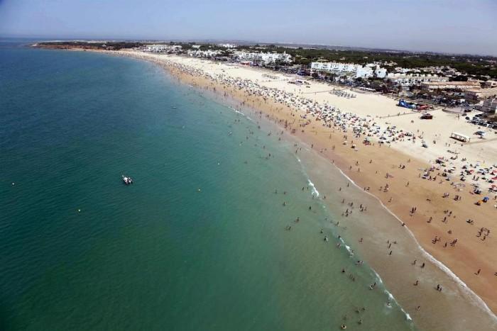 playa barrosa aerea