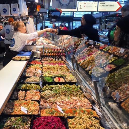 Buenos productos en el Mercado de Torvehallerne