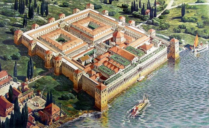 Así debió de ser el Palacio de Diocleciano. Imagen: wikipedia.org