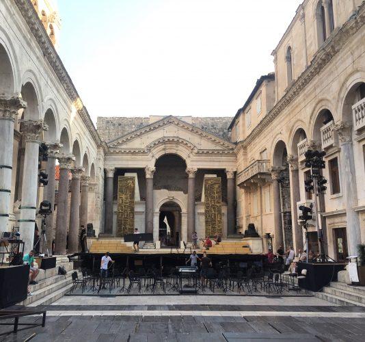 Peristilo en el Palacio de Diocleciano