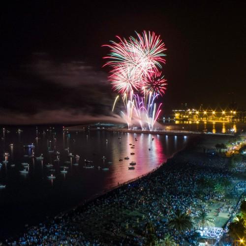 Fuegos cada viernes de feria. Imagen Turismo de Málaga.