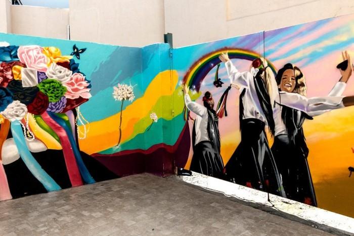 Mural en la Judería. Imagen de arteurbanoImagen