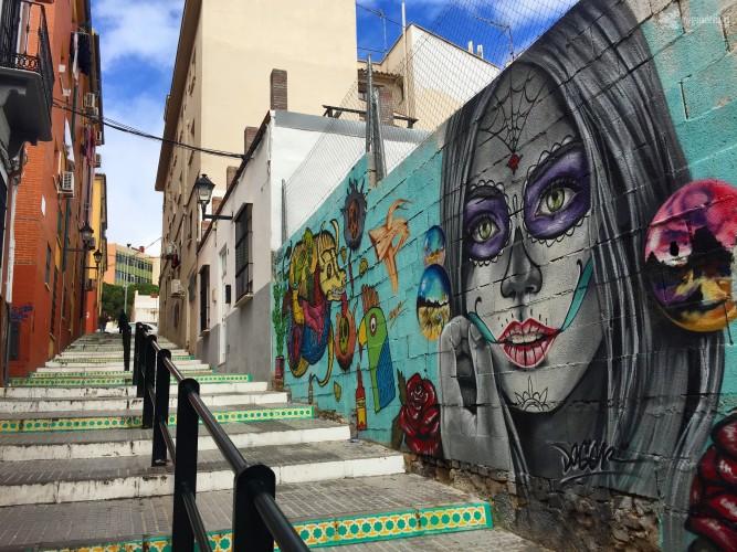 Obra de Doger en el barrio de Lagunillas