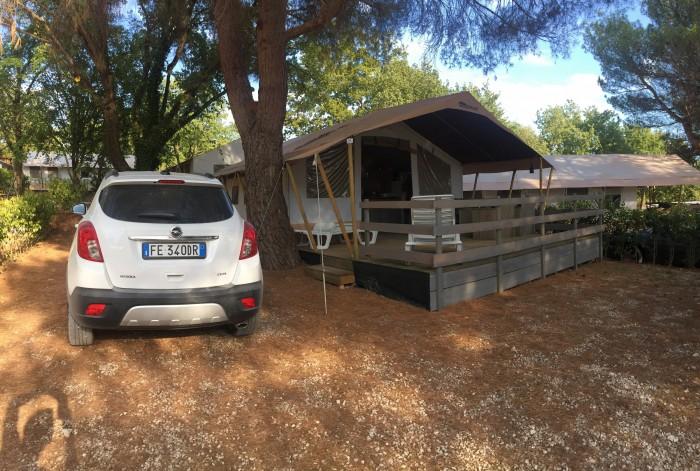 Nuestra tienda safari en Camping Valkanela.