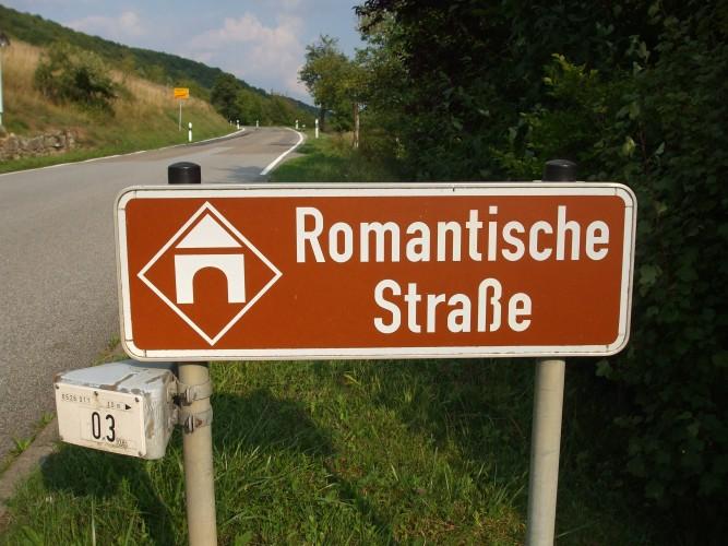 Romantische-Straße-cartello