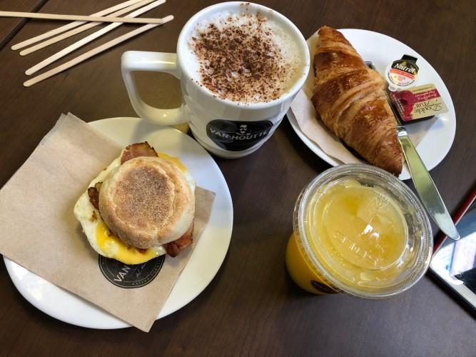 Desayuno en Van Houtte