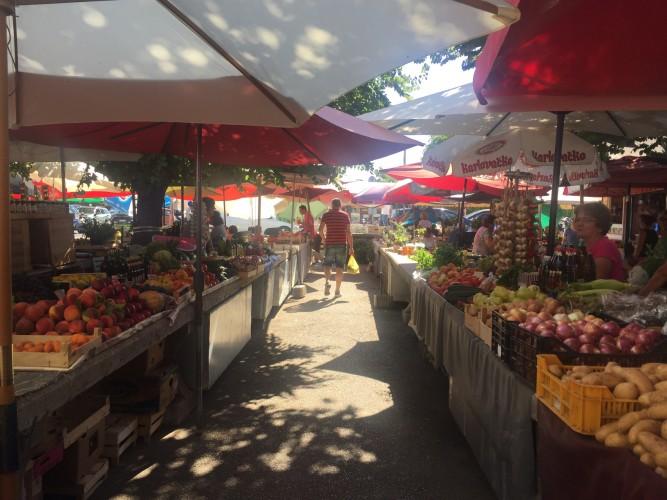 Mercado en Trogir