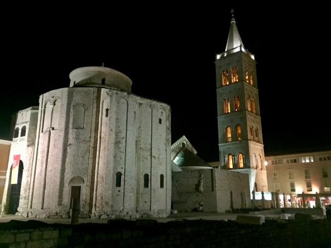 Iglesia de San Donato y campanario de la Catedral de Zadar