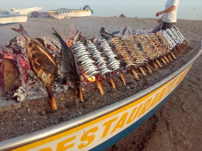 Barca con espetos.Foto de Toñi Sánchez