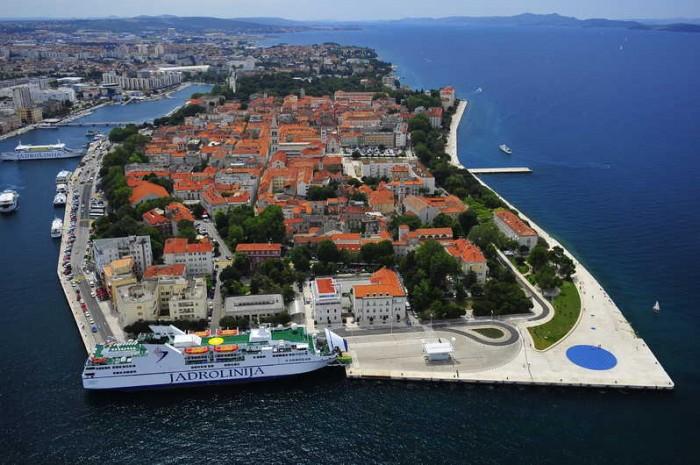 Casco histórico de Zadar desde el aire. wikipedia.org