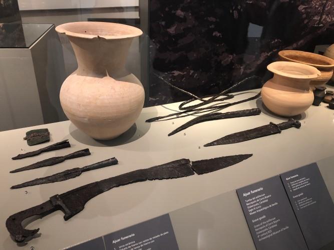 Piezas en Museo íbero de Jaén