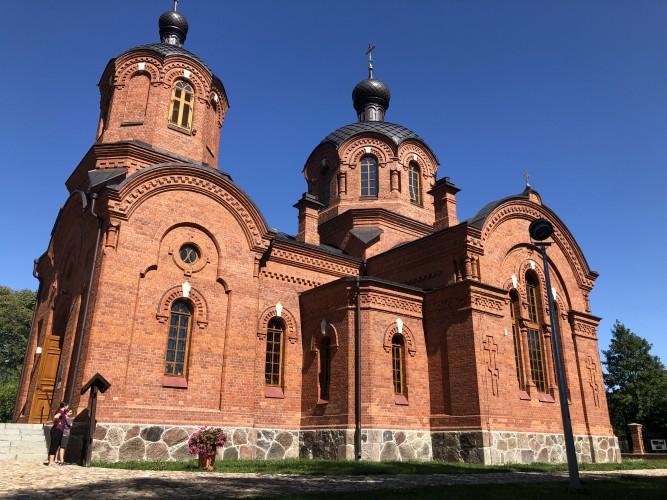 iglesia ortodoxa en Bialowieza