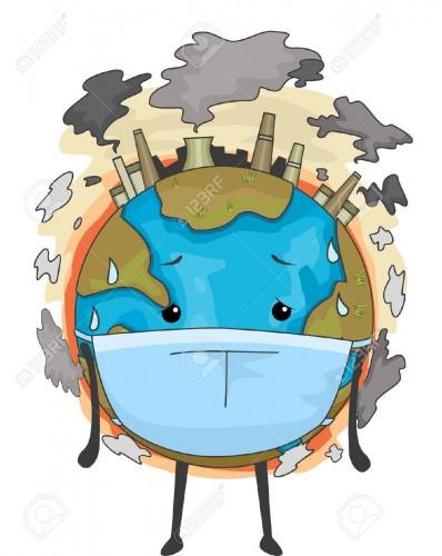 planeta contaminando
