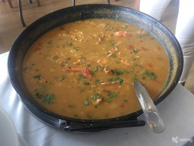 Viajar y comer, que placer. Este arroz lo disfruté en Popeye, Chiclana.