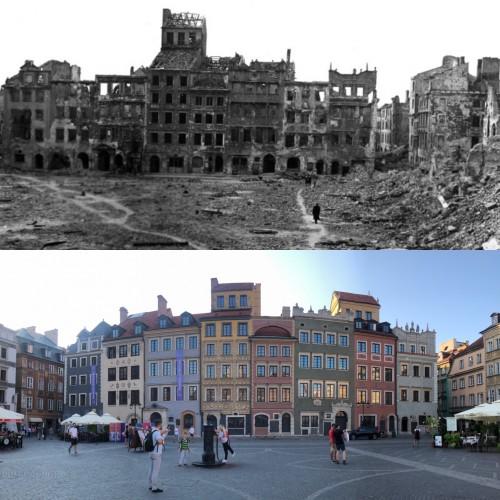 Antes y después de la reconstrucción